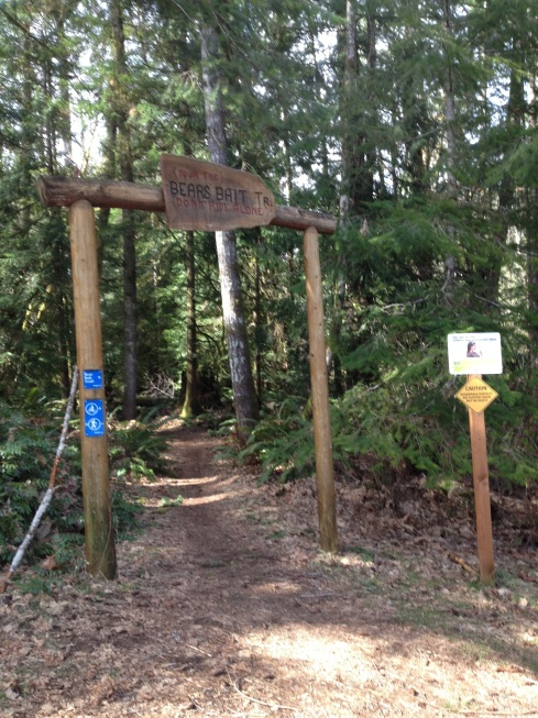 Here we enter the BC Hydro trail system