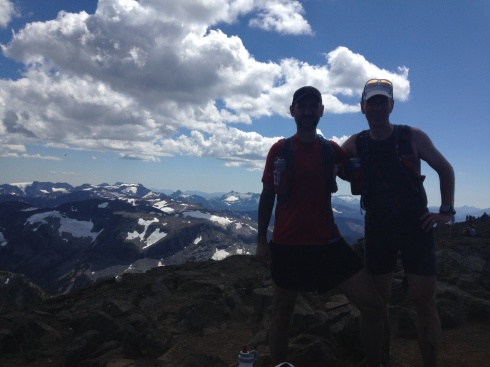 Summiting Albert Edward with Bruce and Todd