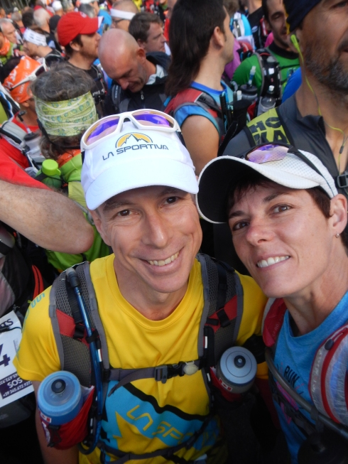 Start Line Selfie (where we actually said 'good-bye! Have a great race!')