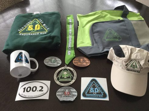 A finisher gets all of this schwag and more. We also got Injinji socks, a show bag, recovery powder, a buff, etc, etc.