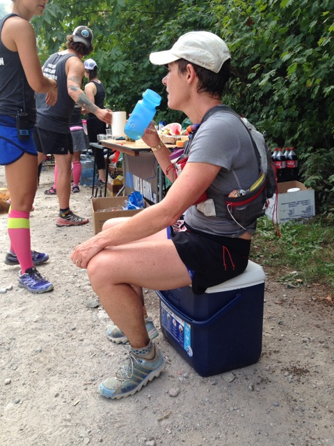 I sat on this cooler and followed AS #7 advice, had a cold sponge bath and headed out, feeling refreshed and ready to attack those last climbs.