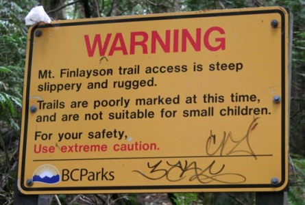 I wish this sign had said: WARNING - don't go out too fast. This climb is only a teaser for you 50 km runners.
