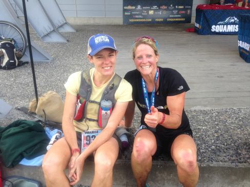 Christine and I finished close together and I was so thankful for her motivation to get out of the Farside aid station.