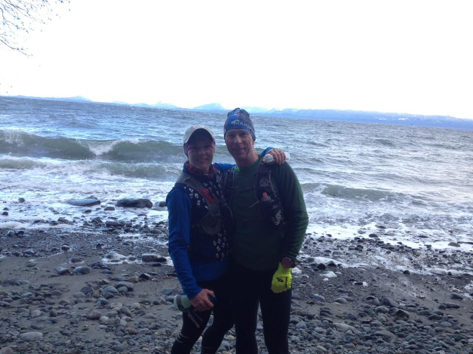 Me and B all bundled up for our New Year's Day fat ass run. I can't wait to show off my True North Strong and Free white legs in March!